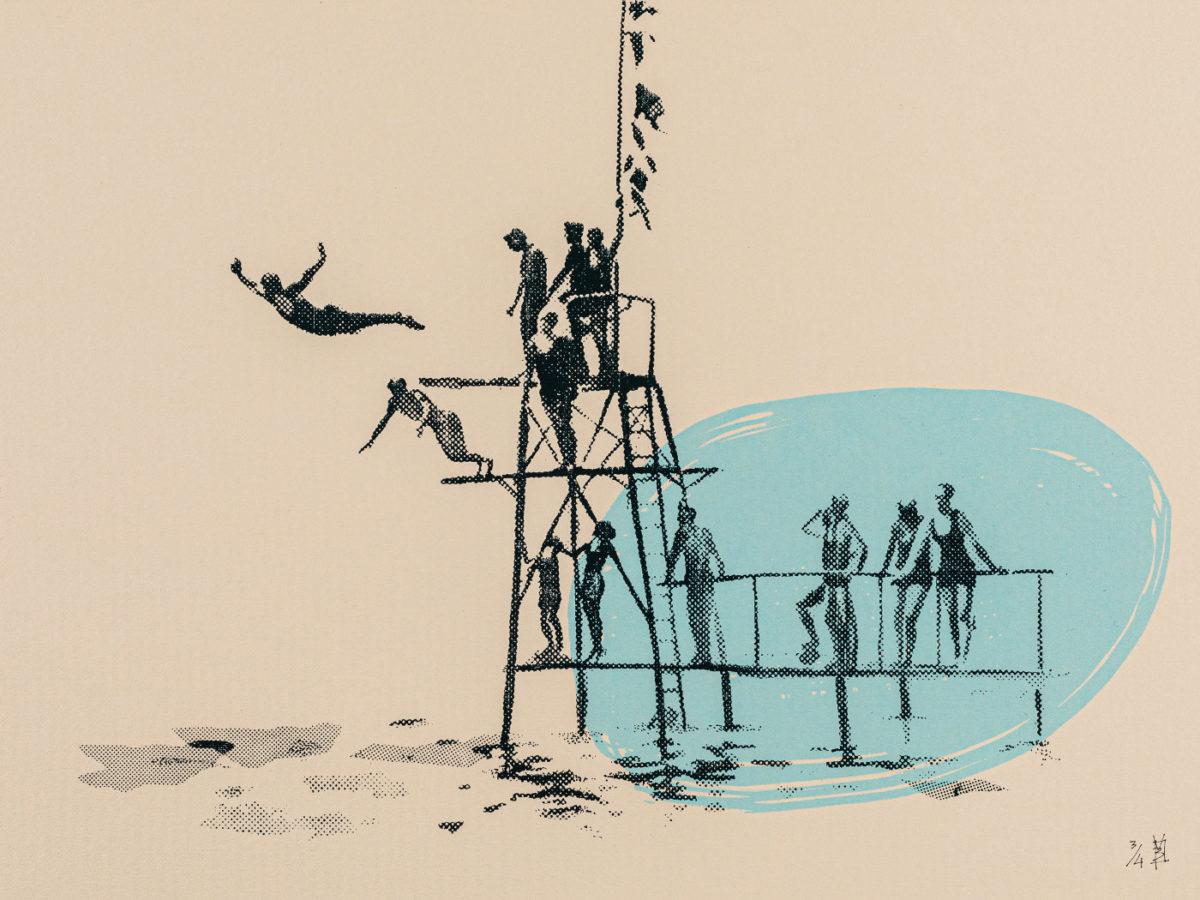 cercle des nageurs art