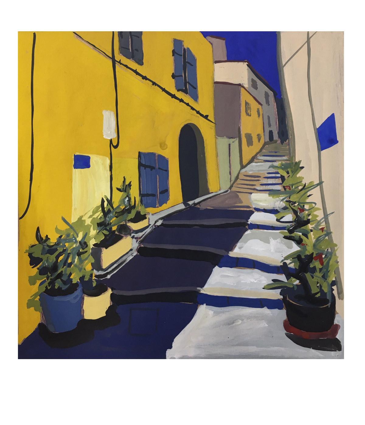 quartier le panier marseille peinture