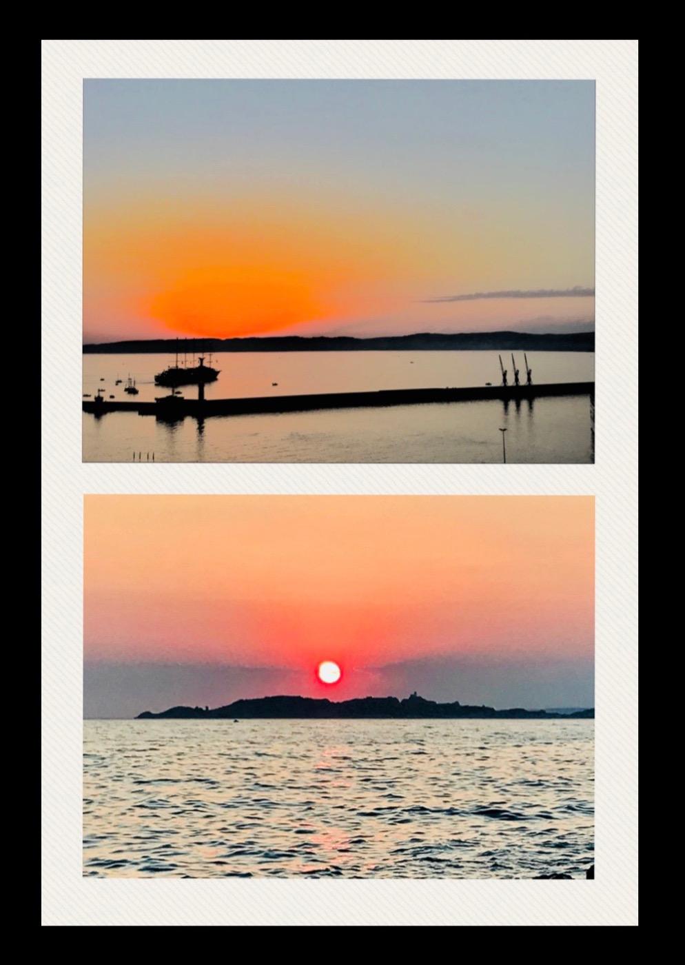coucher soleil marseille iles