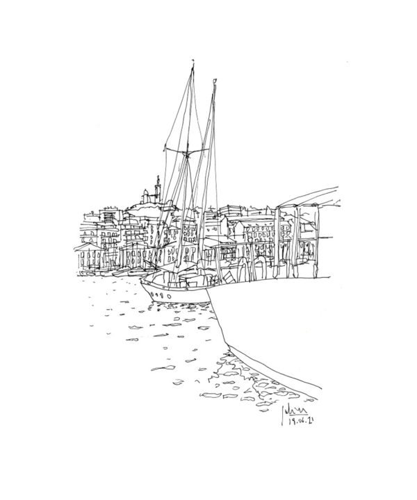 dessin vieux port marseille