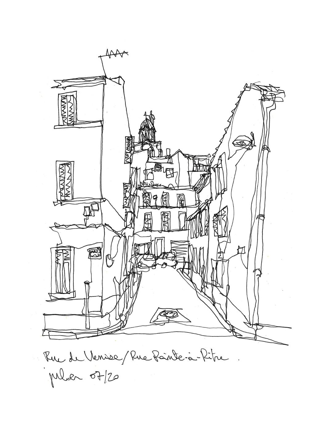 rue pointe a pitre marseille dessin