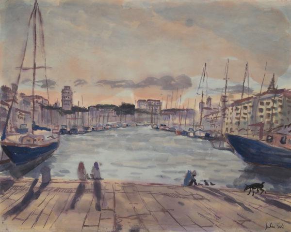 peinture vieux port marseille