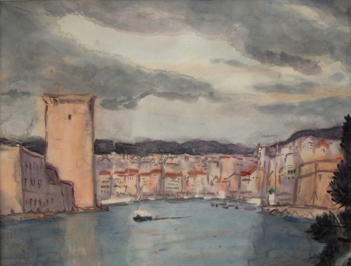 aquarelle fort saint jean marseille