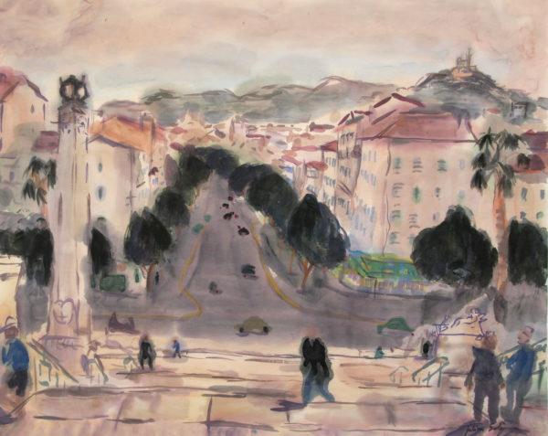 aquarelle gare saint charles