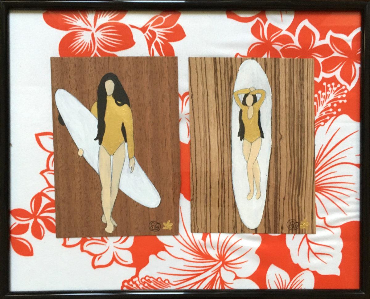 peinture tissu bois