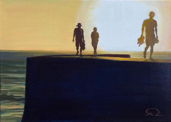 peinture coucher de soleil espagne