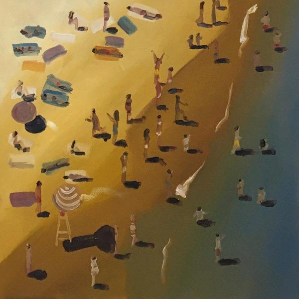 plage côte basque peinture