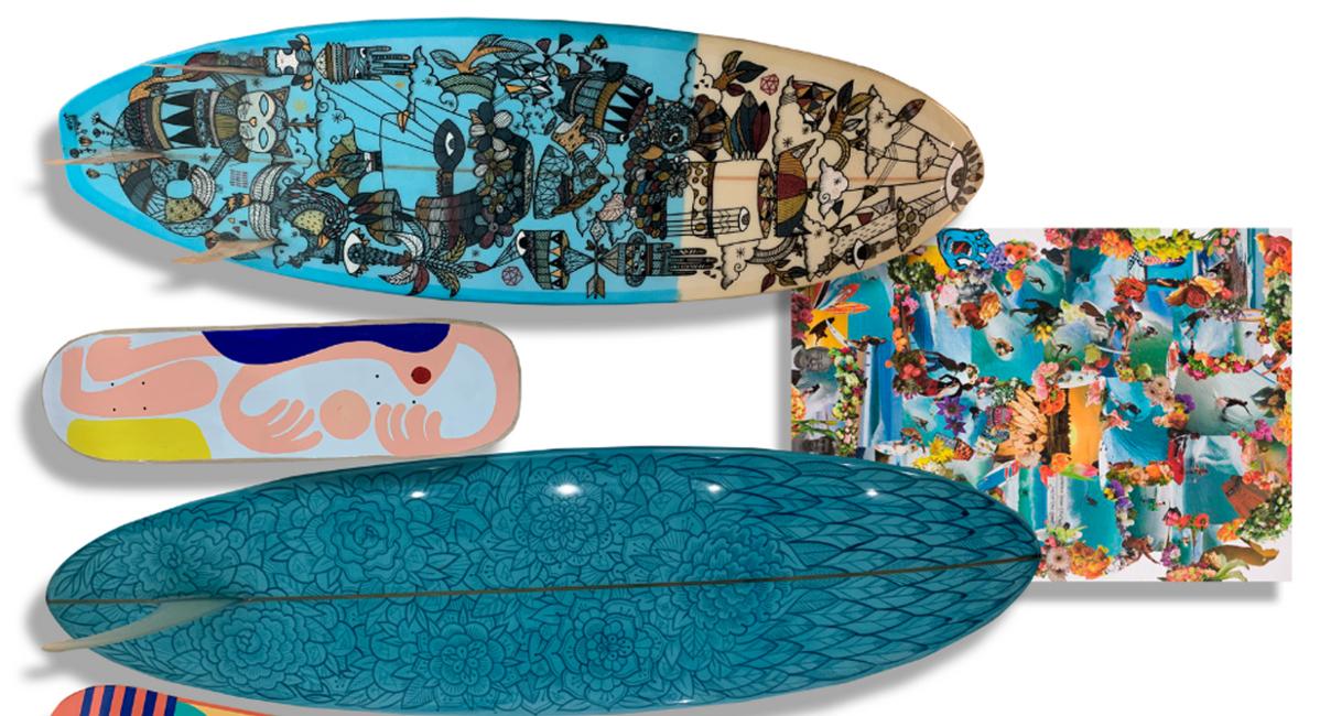 art peinture surf skate