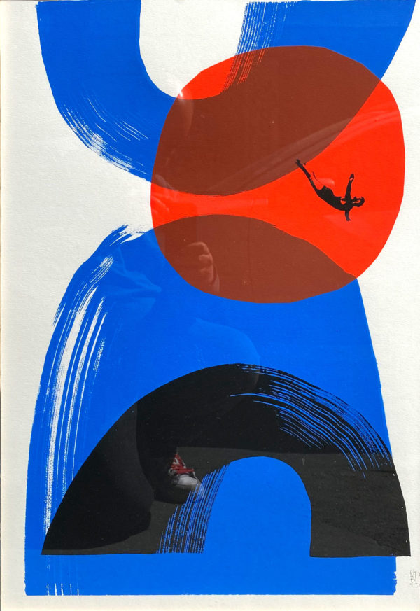 oeuvre bleu rouge