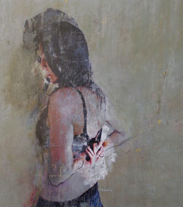 toile femme de dos