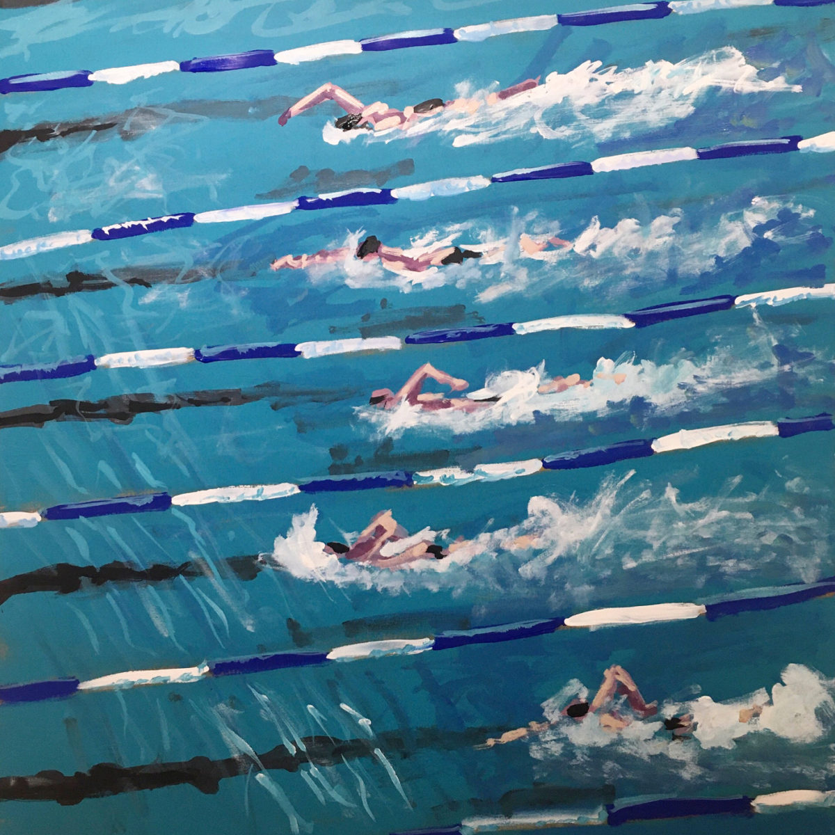 oeuvre piscine peinture art