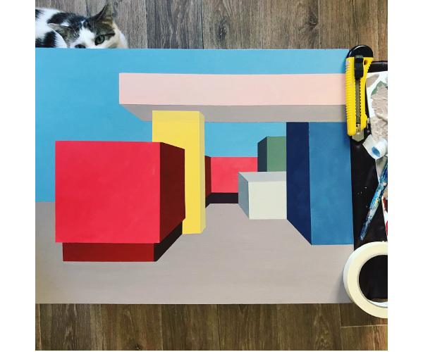 œuvres représentant des cubes