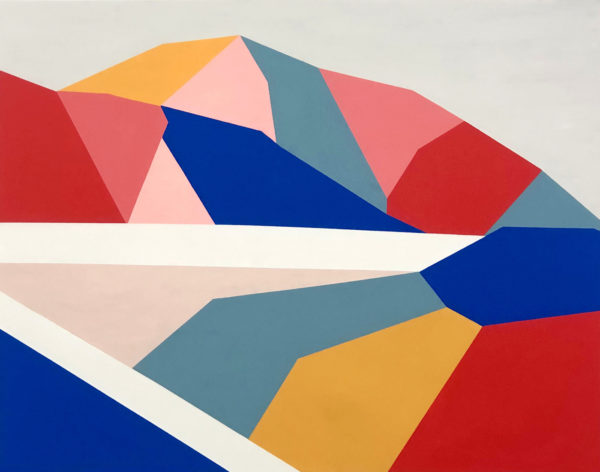 art montagne multicolore