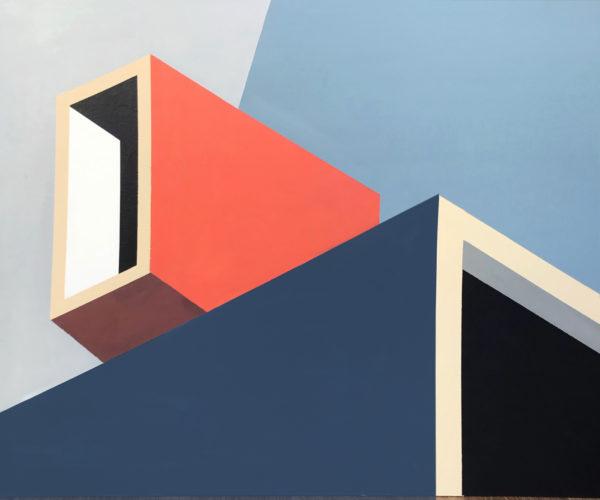peinture bleu rouge art