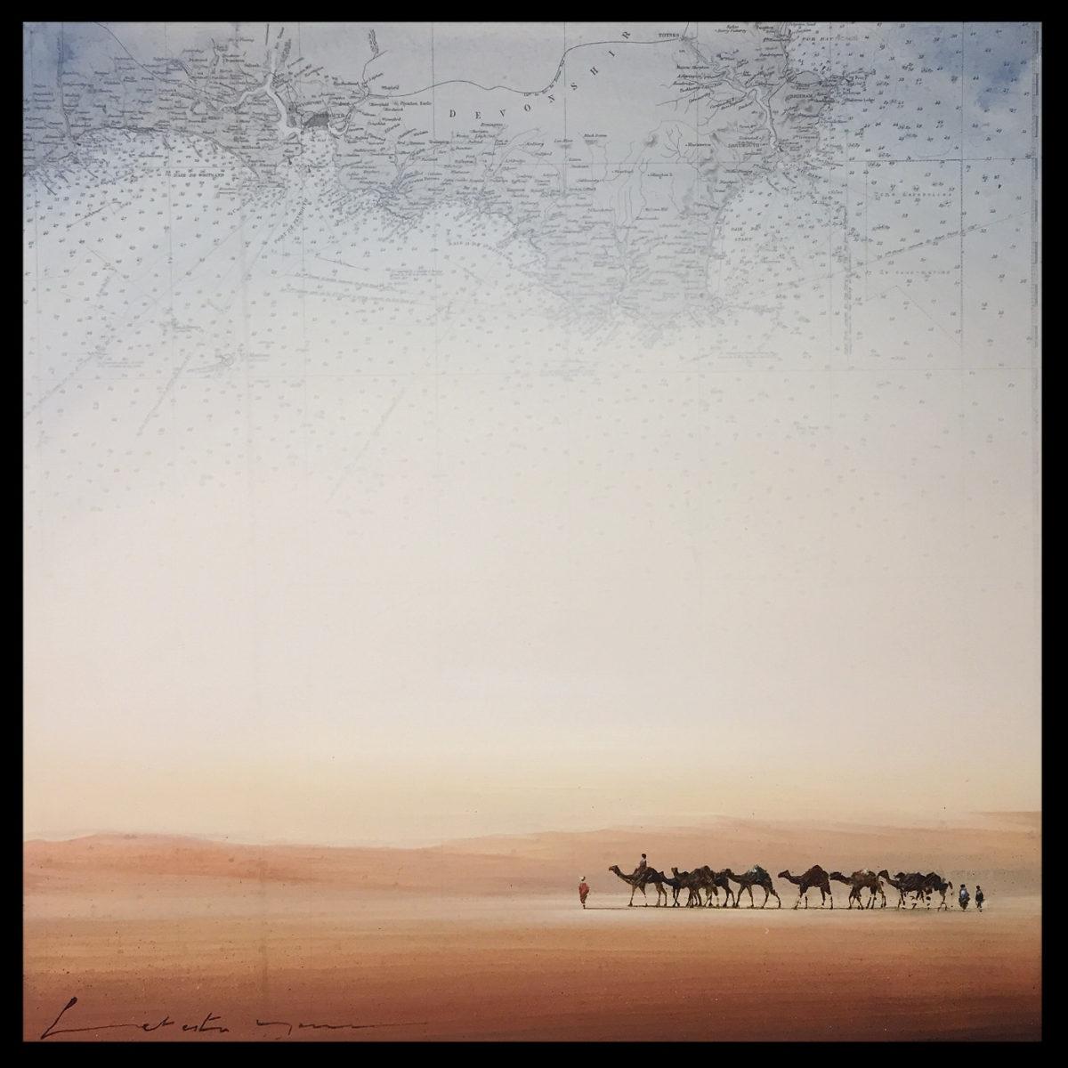 peinture désert touareg