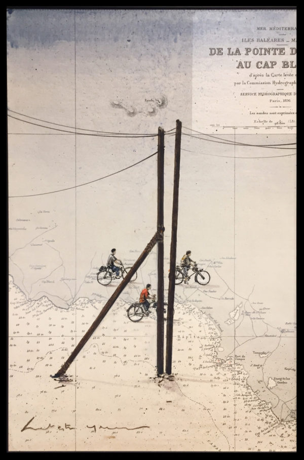 vélo toile peinture