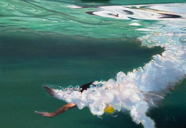 peinture plongeon mer